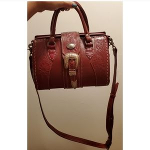 🎉American West Hand Tooled Leathsr Doctor Bag🎉